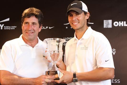 El tenista y el golfista entre los participantes (Foto: Twitter Rafa Nadal)