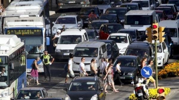 El tráfico en Palma