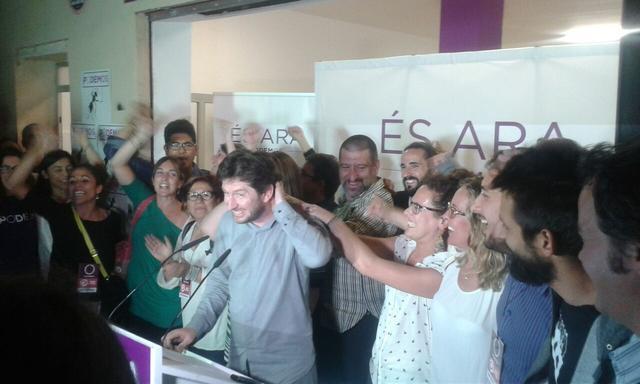 El portavoz de Podemos en el Parlament, Alberto Jarabo