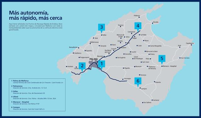 Endesa lanza el primer Club de Carga Rápida, que permite recorrer toda la isla de Mallorca en vehículo eléctrico