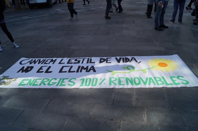 pancarta contra el cambio climático