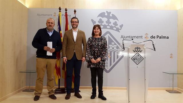 Ensenyat, Hila y Armengol. Foto: EUROPA PRESS.