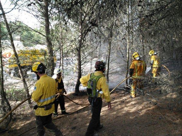Otros cuatro contenedores han sido quemados intencionadamente esta pasada madrugada en Palma (Foto: Bombers de Palma)