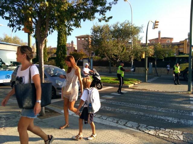 De camino al colegio