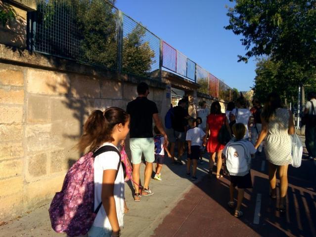 llegada al colegio