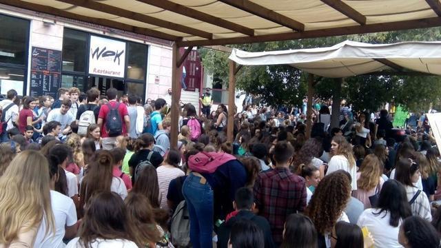 Imagen de Archivo. Huelga  de estudiantes, en octubre.