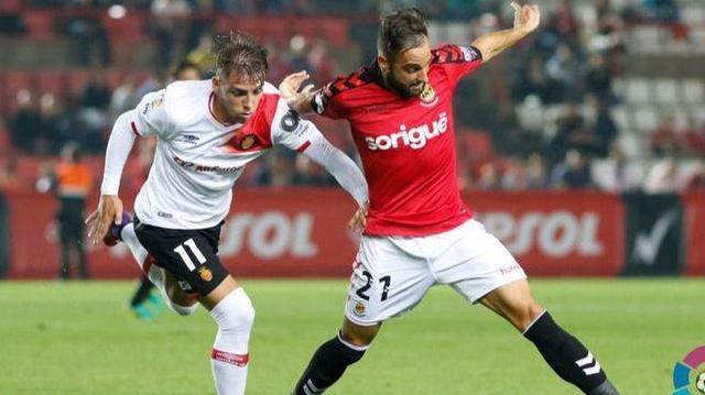 El mallorquín Brandon Thomas con el Girona