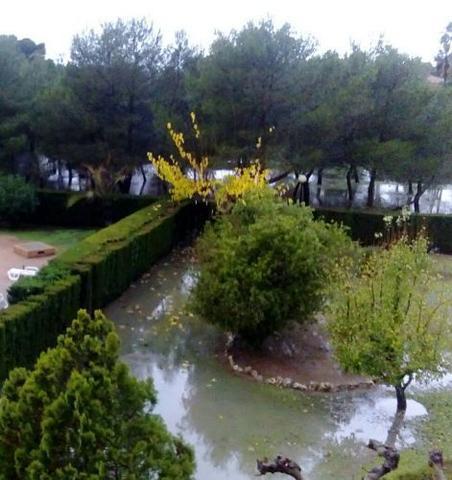Jardines de Maioris Decima (Llucmajor) inundados