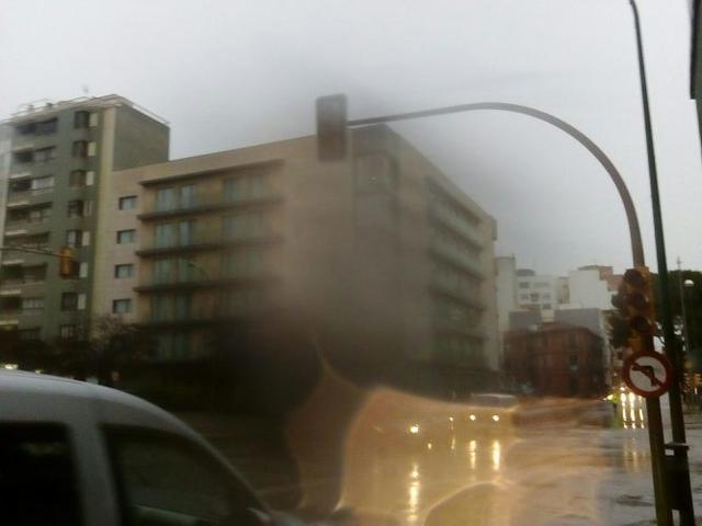 Muchos semáforos no funcionan a causa de la tormenta