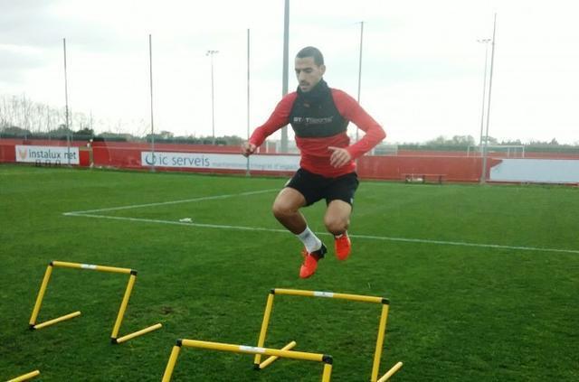 180117 Alex Vallejo en el entrenamiento del Mallorca