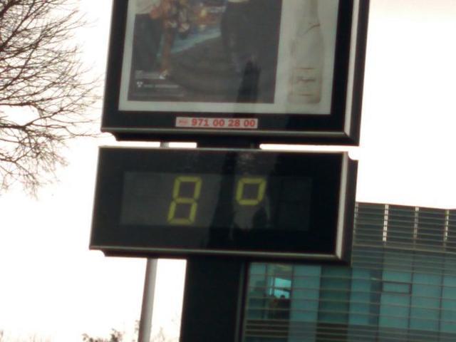 Temperaturas bajas en los termométros