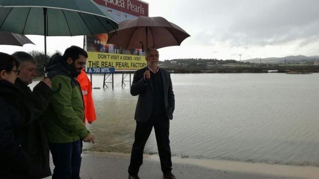012217 Conseller Vidal Visita los daños provocados por el temporal