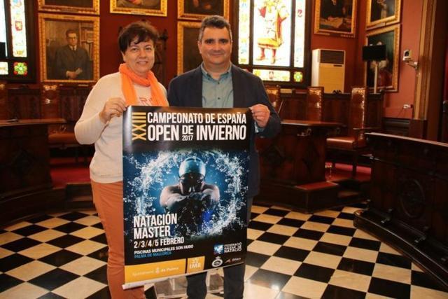 013117 Presentación XXIII campeonato natación invierno Son Hugo Open- Moll y Calderón