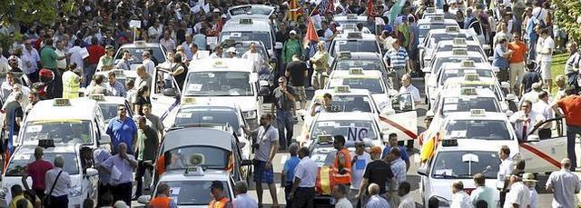 TAXISTAS MOVILIZACIONES