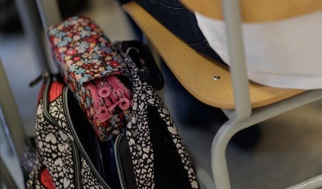 Las mochilas, preparadas (Foto: Archivo)