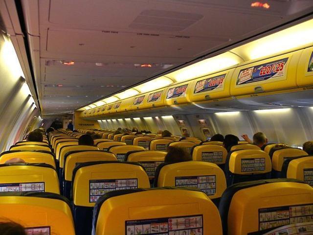 Interior de uno de los aviones de la compañía irlandesa
