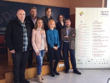 Francesc Miralles i autoritats responsables del Jazz Festival in Mallorca 2017