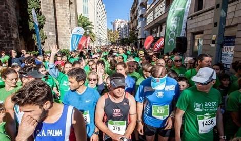 Muchos 'runners' de toda Mallorca participan de la 'Cursa Ses Salines - Colònia'.