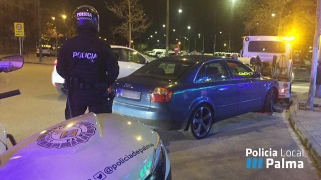 policia local palma control coche grua