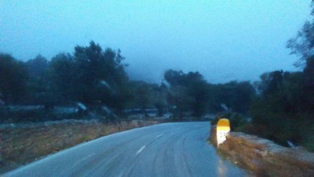carreteras de la tramuntana con nieve