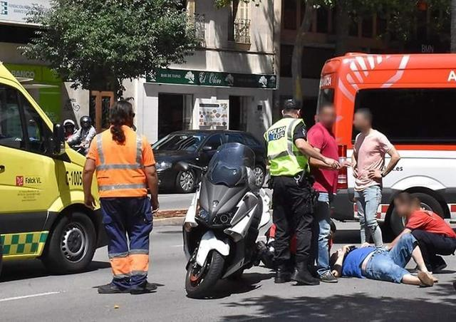 Policia Local accidente moto