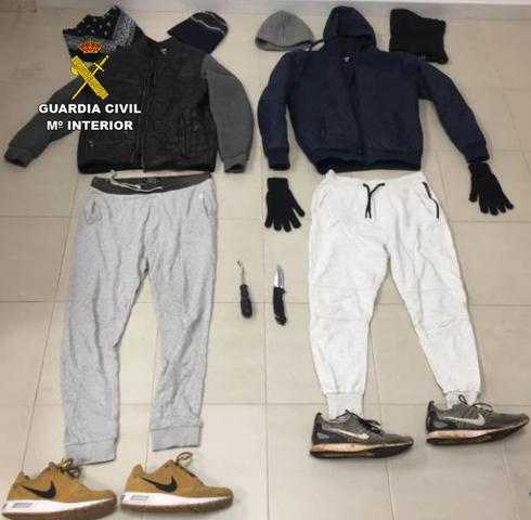 Vestimenta robos en Santanyi