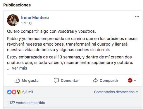 Irene Montero y Pablo Iglesias padres de mellizos