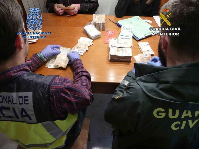 Operación Manacor contra el tráfido de drogas, blanqueo dinero y explotación sexual