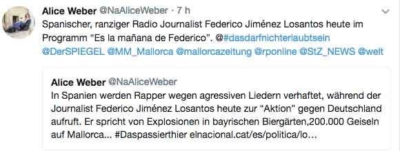 Alice Weber soberanista de Mes y concejala en Inca