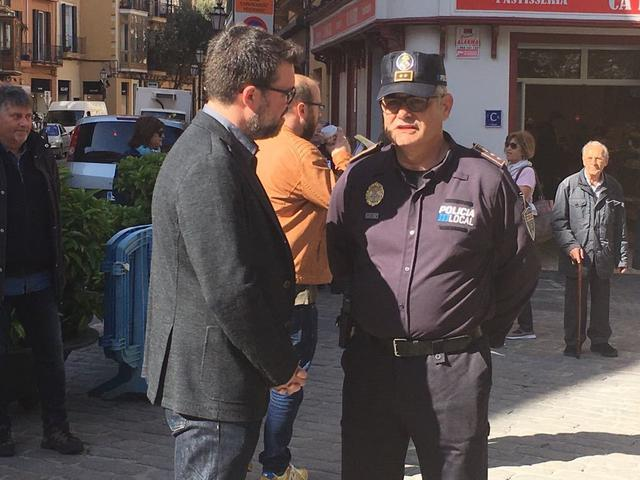 Toni Noguera Josep Palouzié jefe Policia Local Palma