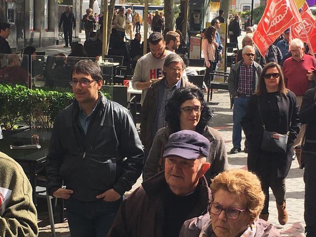 Manifestación pensiones dignas Iago Negueruela
