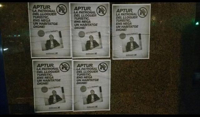 Andavant OSAN pega carteles en Habtur