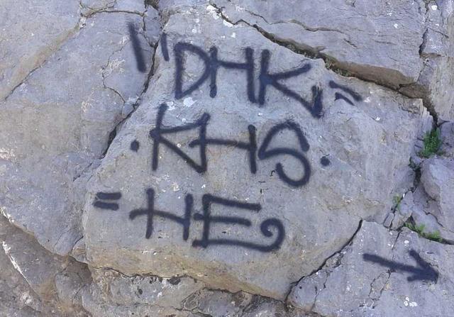 Pintades Grafittis Escorca piedra (2)