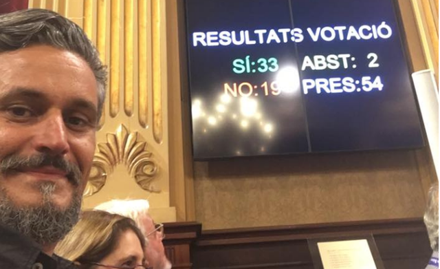 Resultado a favor de la votación de la ley del toro a la balear en el Parlament