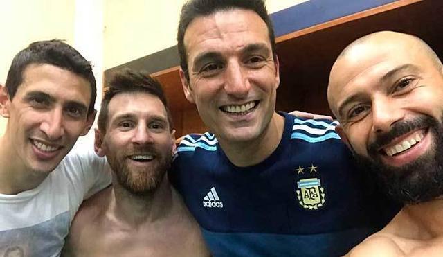 El argentino ha publicado esta foto en su perfil de Twitter