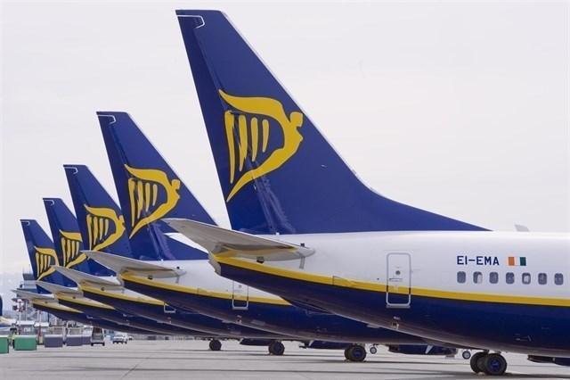 Aviones de Ryanair en tierra durante las huelgas de los pasados días 25 y 26 de julio (Foto: archivo)