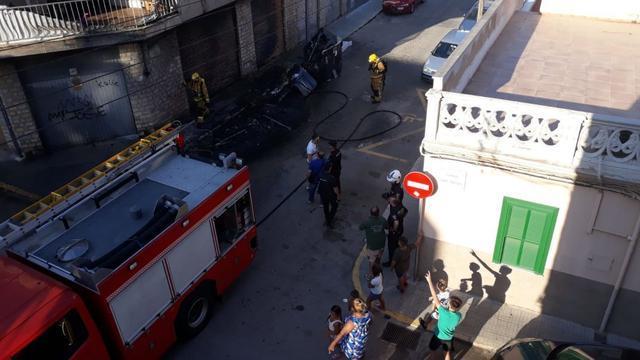 Incendio en contenedores en Palma 2