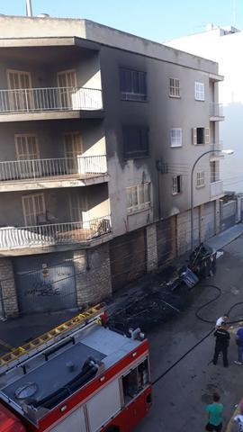 Incendio en contenedores en Palma 4