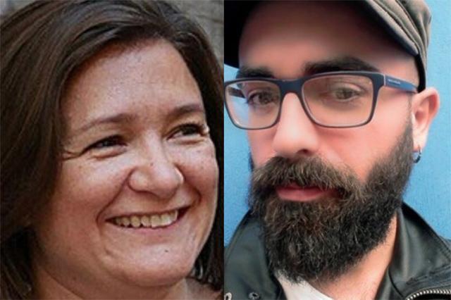 La consellera insular de Territori, Mercedes Garrido, y el presidente del GOB Mallorca, Amadeu Corbera
