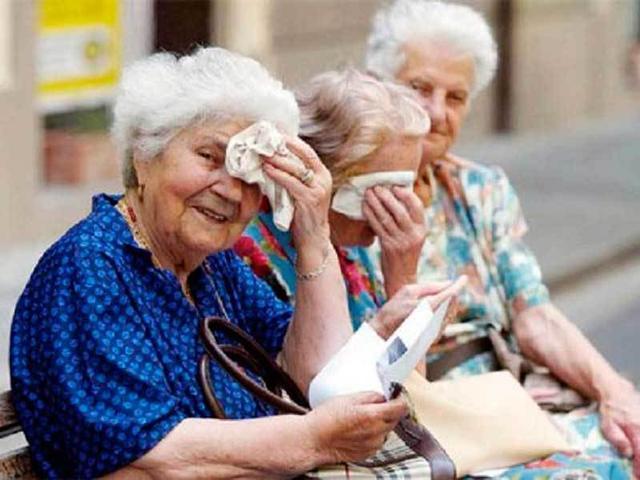 ancianos calor