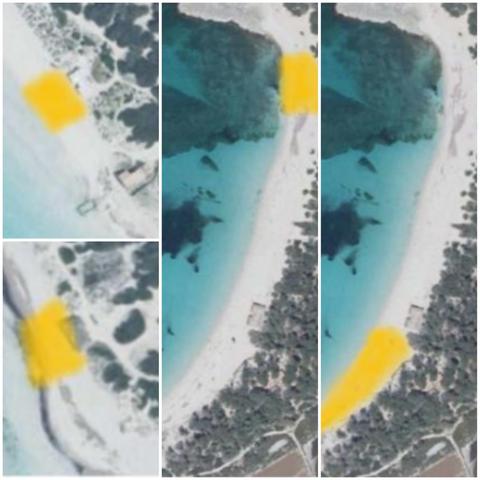 Las zonas amarillas son las que los concesionarios mantienen limpias