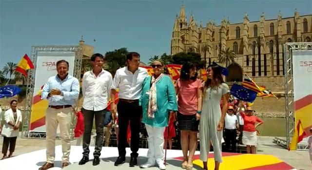 Mesquida, Manuel Valls y Rivera en el acrto de la Plataforma Ciudadana