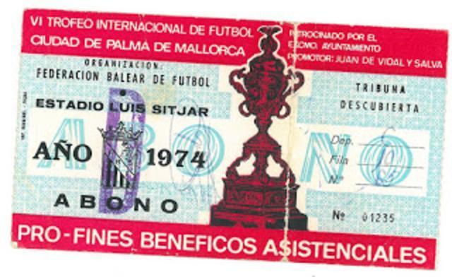 El abono de la edición de 1974 (Foto: Archivo Familia Jaume)