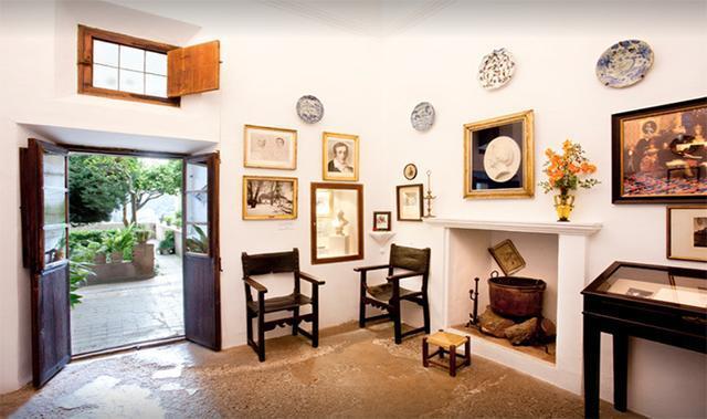 Una de las estancias del músico y la escritora (Foto: Museo Chopin y George Sand)