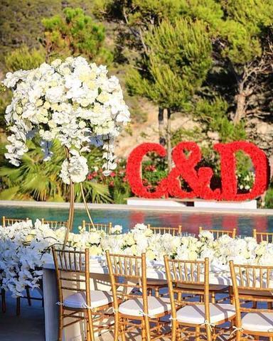 Imagen del jardín donde se celebró banquete