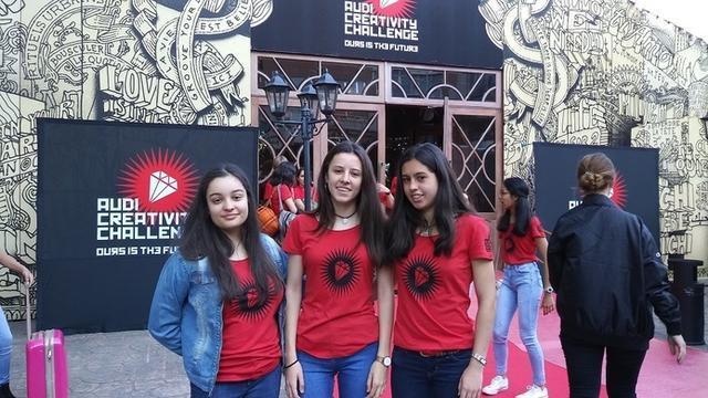 Nalú Rodríguez, Clara Pantín y Paula Lamas, ganadoras del Audi Creativity Challenge (Foto: GCiencia)