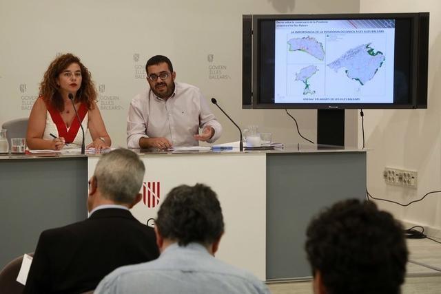 La portavoz del Govern, Pilar Costa, y el Conseller de Medi Ambient, Agricultura i Pesca, Vicenç Vidal Matas (Foto: Europapress)