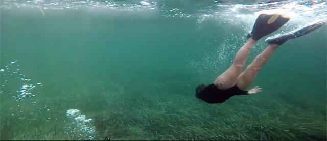 Inma Cuesta hace un recorrido submarino por la posidonia de Ibiza y Formentera