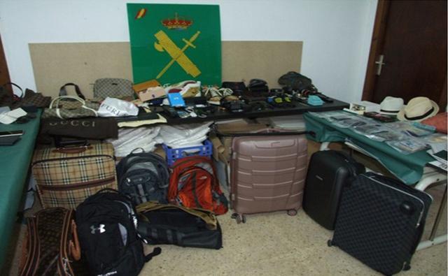 Objetos robados que todavía no habían enviado a Chile (Foto: Guardia Civil)