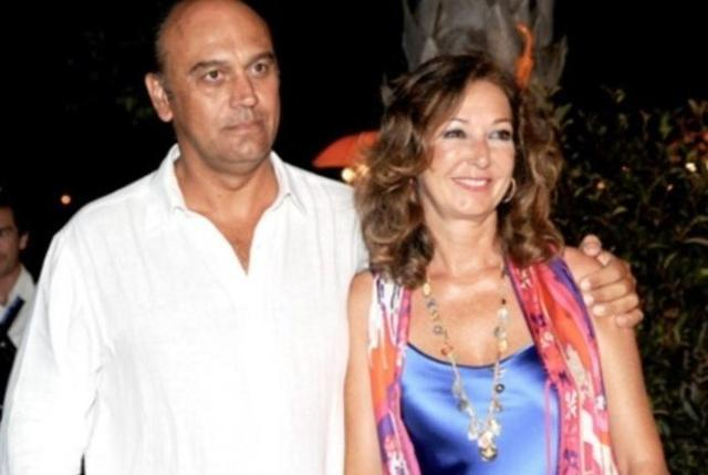 Juan Muñoz y su esposa, la periodista Ana Rosa Quintana